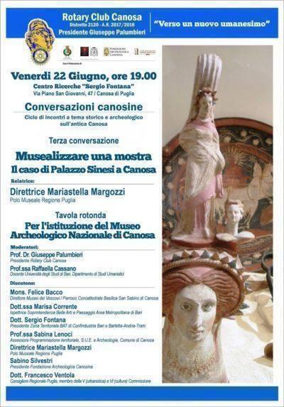Istituire il Museo Archeologico Nazionale di Canosa