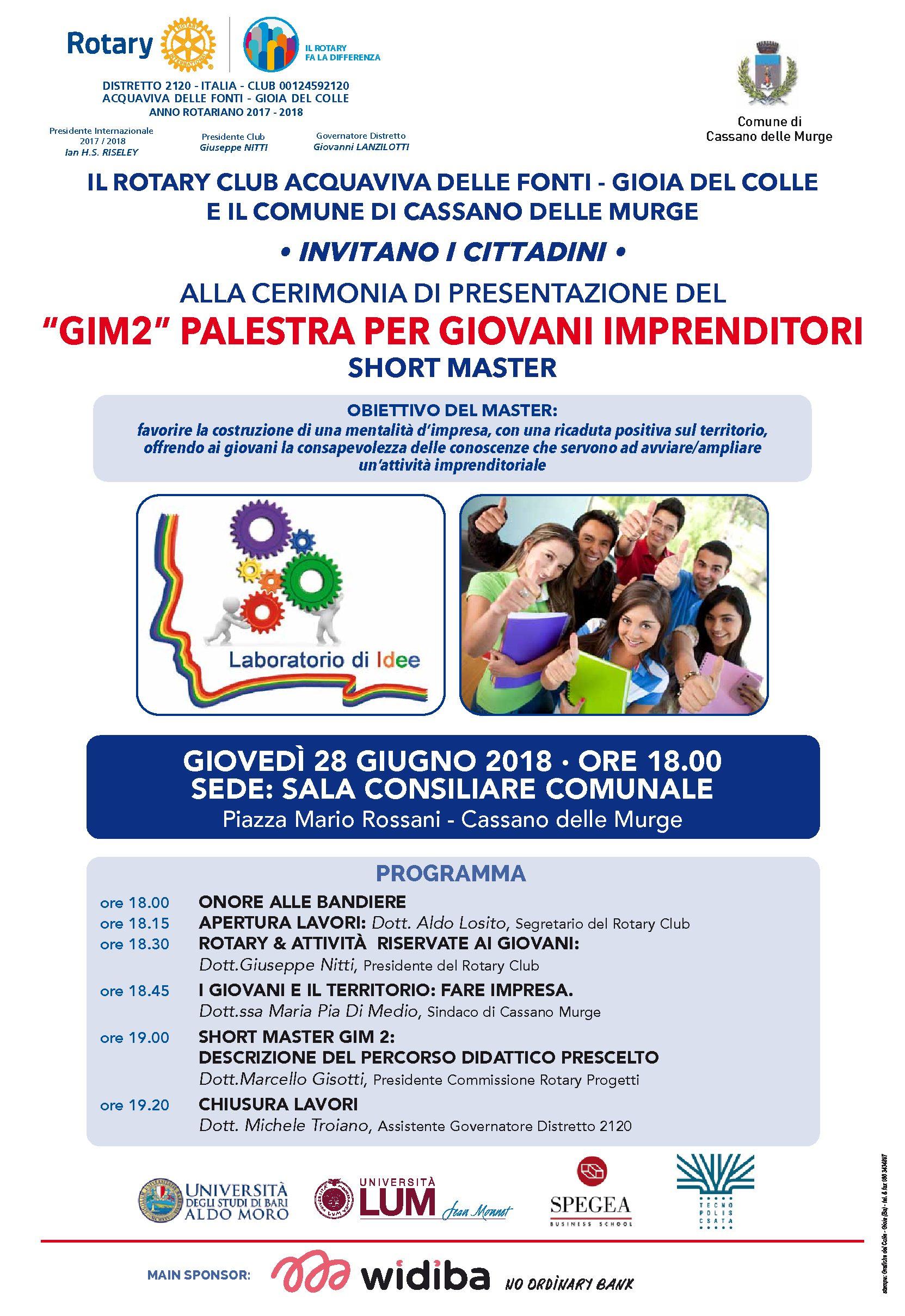 """GIM2! Palestra per Giovani Imprenditori"""