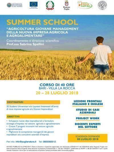 """A BariSummer School """"Agricoltura giovane"""" con l'economista Sapelli"""