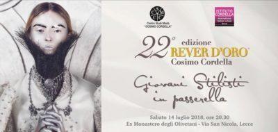 """Rever d'Oro """"Cosimo Cordella"""".Giovani stilisti in passerella"""