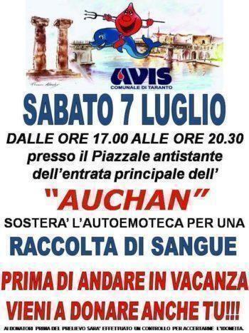 Appello AVIS Taranto
