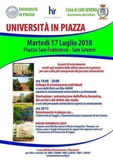 Universita' in piazza