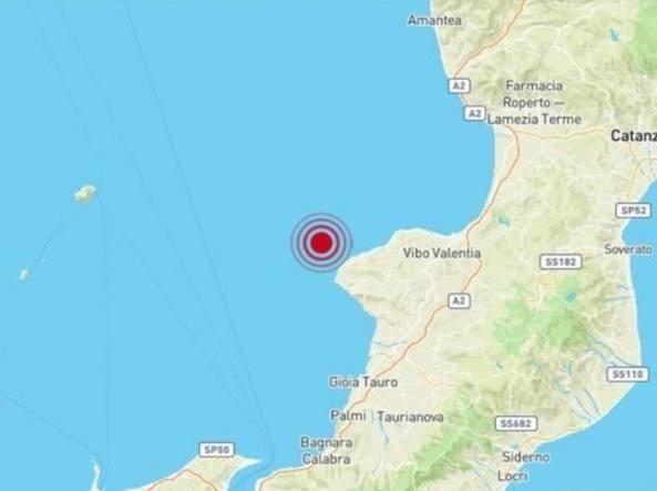 Calabria: scossa di terremoto magnitudo 4.4 al largo di Tropea