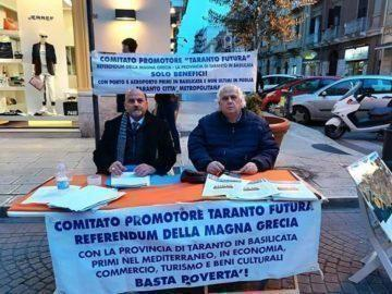 Taranto in Basilicata, a conclusione la raccolta di 15mila firme