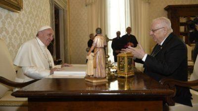 Udienza di Papa Francesco al presidente israeliano