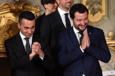 Salvini e Di Maio in c'eravamo poco alleati