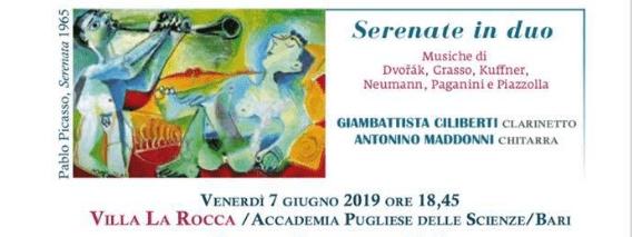 Venerdì 7 giugno il Collegium a Villa La Rocca – Bari