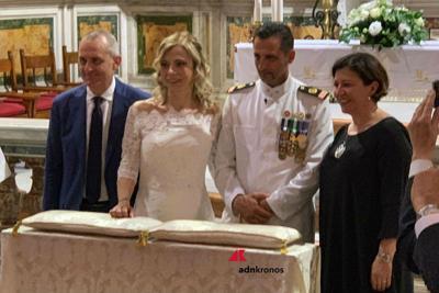 Marò Latorre si sposa. Ministro Trenta alle nozze