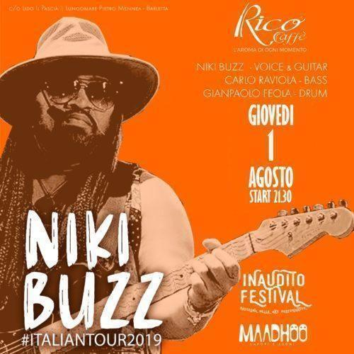 Niki Buzz-chitarrista di James Brown e Whitney Houston live