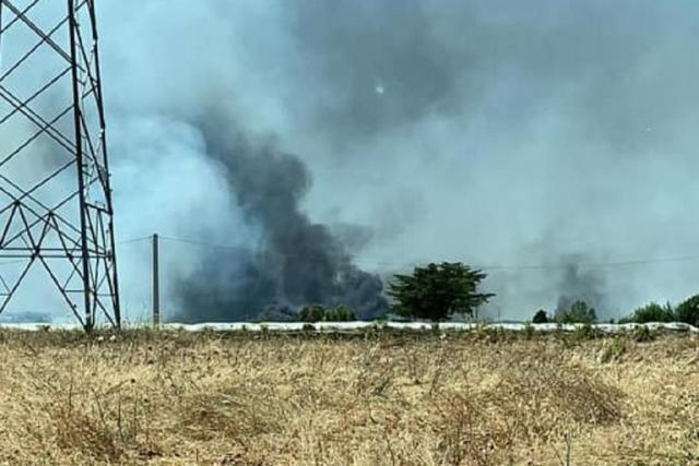 Incendio alla discarica Martucci