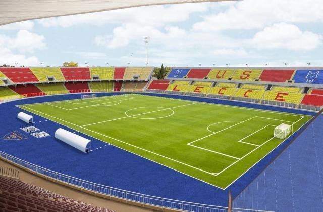 Lecce, lo stadio cambia look per la serie A