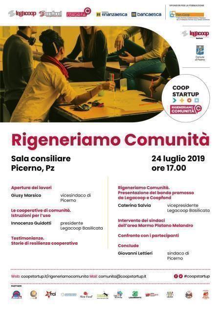 Rigeneriamo comunità il 24 luglio a Picerno