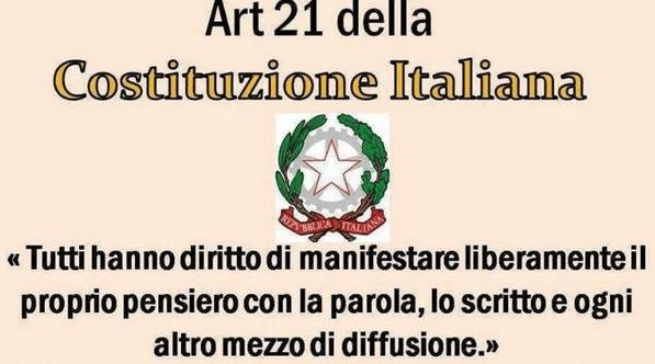 Sul Corriere di Puglia e Lucania l'Articolo 21 della Costituzione