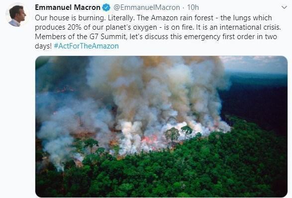 Amazzonia, scontro su twitter tra Macron e Bolsonaro