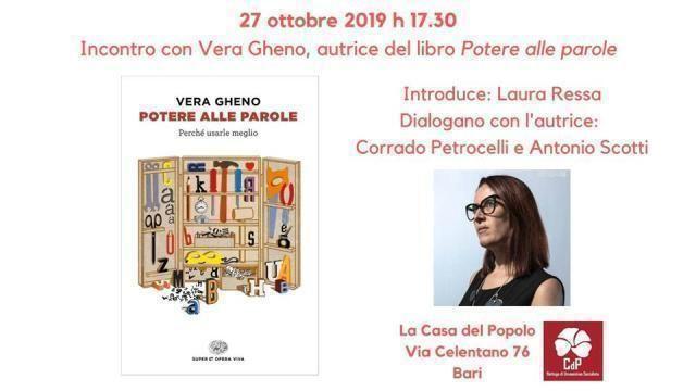 Potere alle parole, incontro con Vera Gheno