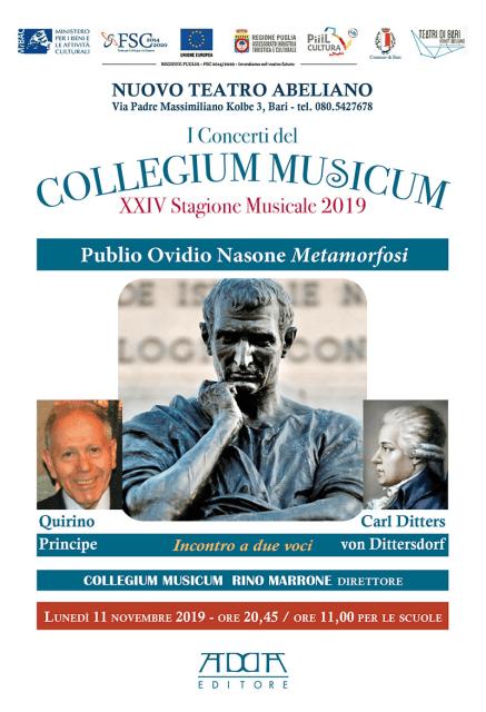 Publio Ovidio Nasone: metamorfosi per il Collegium Musicum