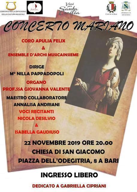 Concerto Mariano per Voci e Orchestra nella Chiesa di San Giacomo.