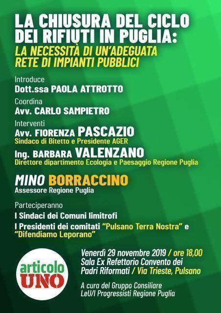 La chiusura dei rifiuti in Puglia