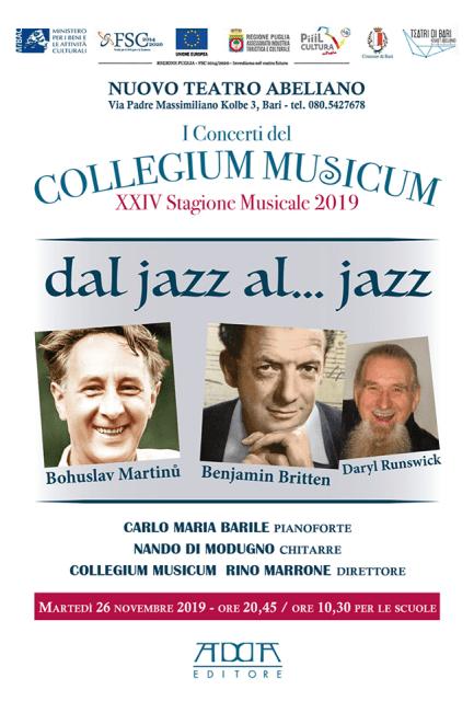 Dal jazz al…..jazz per il Collegium