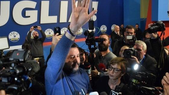 """Salvini: """"la salvezza della Puglia saranno i pugliesi, non Salvini"""""""
