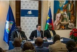 Tutte le parti politiche del Sud Sudan firmano un accordo di pace a Sant'Egidio