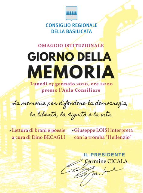 """Cicala: """"'Giorno della memoria' per difendere la democrazia"""""""