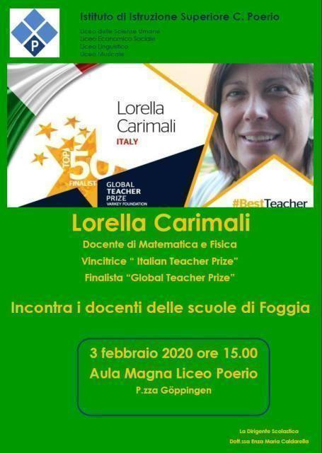 La matematica come stile di vita: al Poerio arriva Lorella carimali