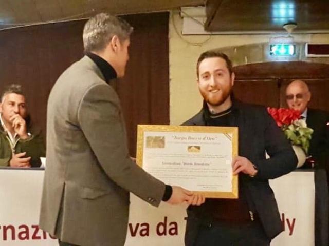 """Premio """"Bacca d'oro"""" al giornalista Dario Benedetto, la soddisfazione di Cia Due Mari"""