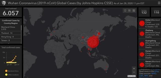 Coronavirus, più di 800 vittime. La mappa del contagio in tempo reale