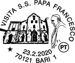 Poste italiane: domenica l'annullo filatelico per la visita di Papa Francesco