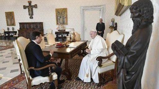 Il Papa riceve Conte. 'sostegno all'Italia'