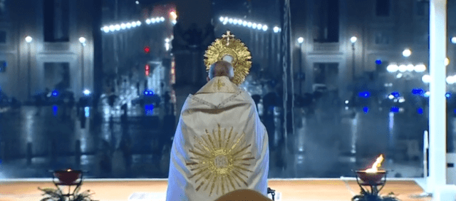 La preghiera di Papa Francesco per la fine dell'epidemia