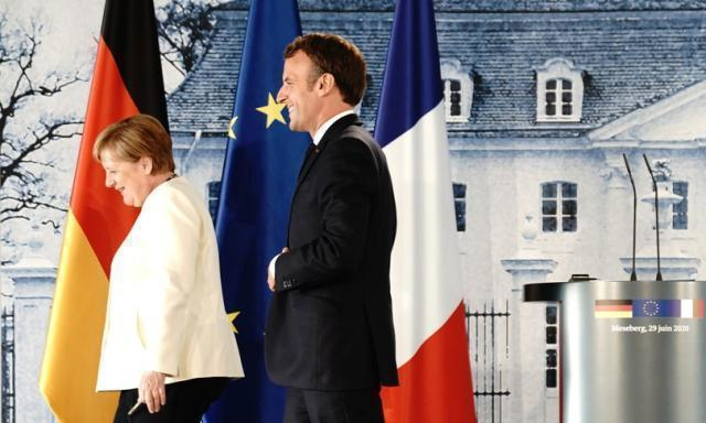 Merkel e Macronin pressing per il Recovery Fund