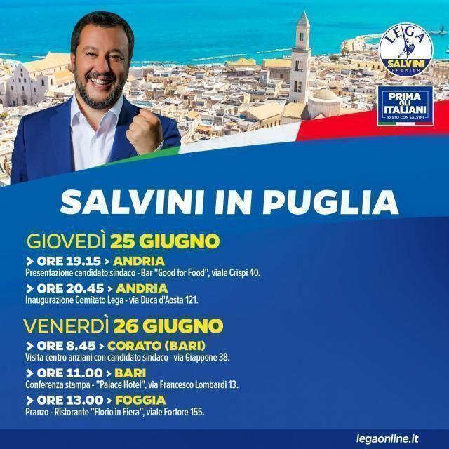 Salvini in Puglia