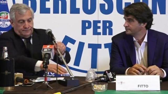 """Tajani in Puglia : """"Fitto, punto di sintesi della coalizione e candidato presidente del centrodestra unito"""""""