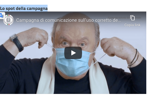 Sai indossare correttamente la mascherina? Lino Banfi ti spiega come fare. Video