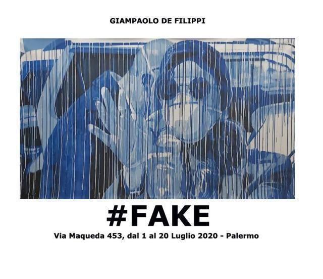 Da Carola Rackete a Jovanotti al Covid-19: nasce #Fake, l'esposizione di Giampaolo De Filippi sulla facciata di un palazzo di via Maqueda