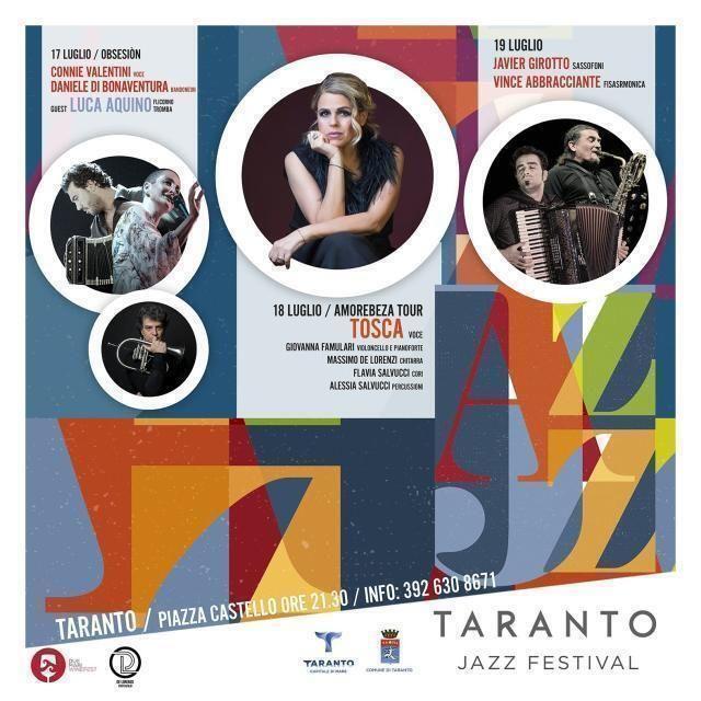 Nasce il Taranto Jazz Festival Tosca inaugura la I Edizione, dal 14 al 19 luglio