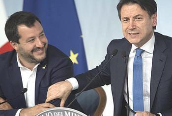 Conte e Salvini diversamente trattati dalla stampa italiana