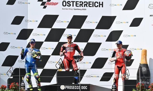 Mot Gp: Dovizioso vince in Austria, Rossi quinto