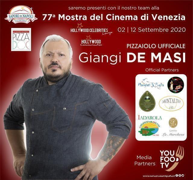 Il pizzaiolo lucerino Giangi De Masi al Festival del Cinema di Venezia
