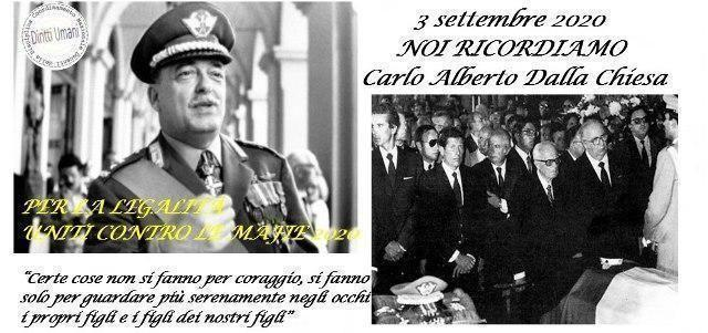 Anniversario dell'omicidio del generale Carlo Alberto Dalla Chiesa