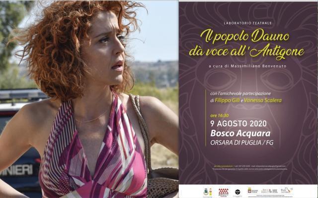 """Orsara, Vanessa Scalera con """"Il popolo Dauno dà voce all'Antigone"""""""