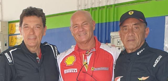 Campioni nel trofeo Ferrari Club Italia 3 baresi, Camassa, Fabii e Marino