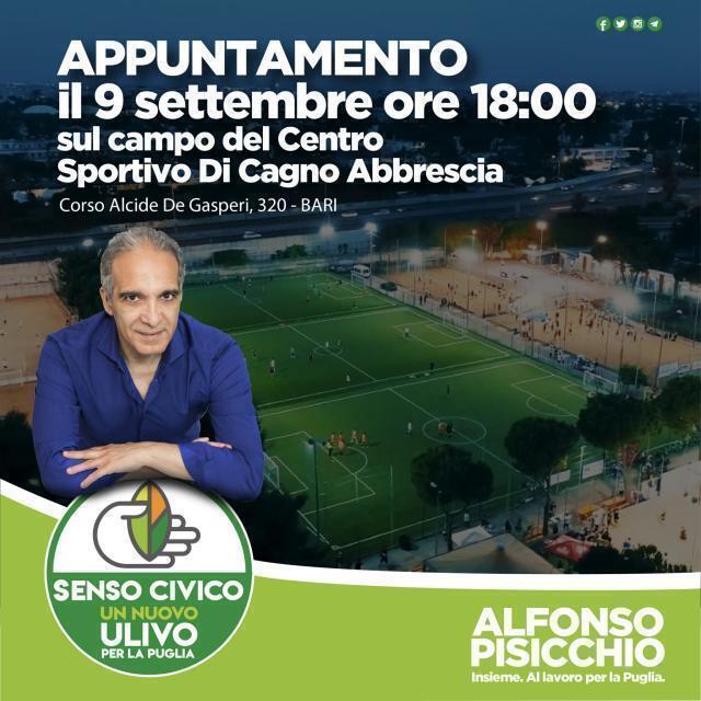 Elezioni regionali 2020:  a presentazione della candidatura dell'assessore Alfonso Pisicchio