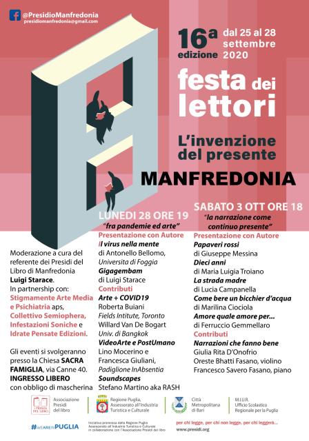 16esima Festa del Lettore 2020 dei Presidi del Libro a Manfredonia
