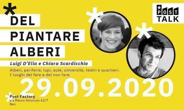 """""""Del piantare alberi, anche nel deserto"""". Dialogo con Luigi D'Elia e Chiara Scardicchio"""