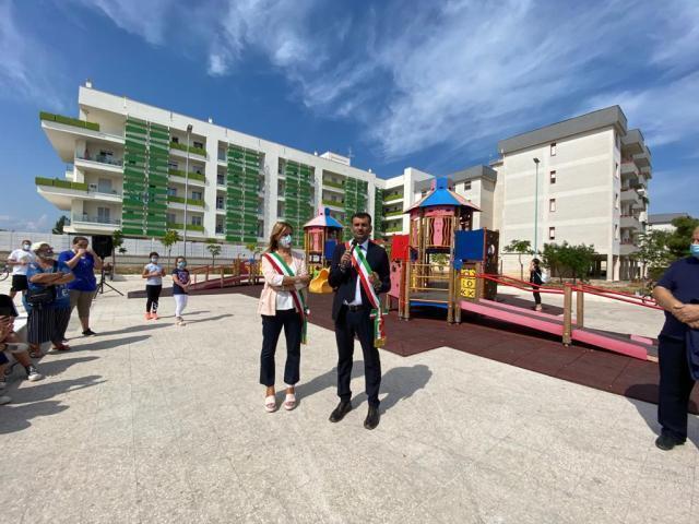 Inaugurata a Bitetto dal sindaco metropolitano, Decaro, l'area interessata dagli interventi di riqualificazione urbana