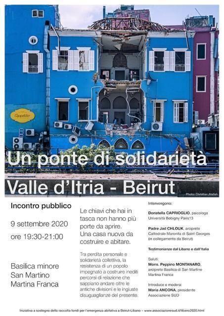 """""""Un ponte di solidarieta' Valle d'Itria – Beirut 2020"""""""