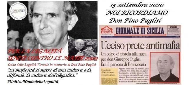 Iniziativa nazionale per Anniversario omicidio Don Pino Puglisi 2020